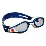 Scuba Diving and Swimming Accessories Thailand - Aqua Sphere Kaiman Exo Swimming Goggles Clear Lens White Blue Frame